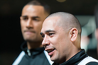 Melbourne, 14 August 2015 - Coach of the New Zealand Tall Blacks men's basketball team, Paul Henare speaks to the media at a press conference on the eve of the game one of the 2015 FIBA Oceania Championships at Rod Laver Arena in Melbourne, Australia. (Photo Sydney Low / sydlow.com)