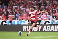 9th October 2021; Kingsholm Stadium, Gloucester, England; Gallagher Premiership Rugby, Gloucester versus Sale Sharks;  Adam Hastings of Gloucester kicks a penalty goal