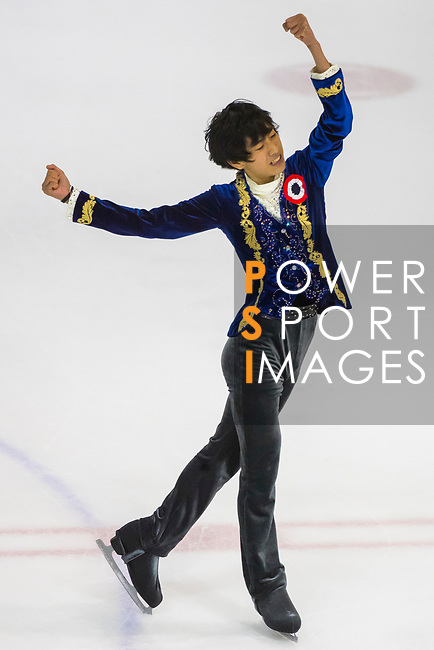 Sena Miyake of Japan competes in Junior Men group during the Asian Open Figure Skating Trophy 2017 at Mega Ice on 03 August, 2017 in Hong Kong, China. Photo by Yu Chun Christopher Wong / Power Sport Images