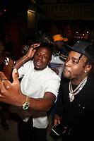 NEW YORK, NY- SEPTEMBER 12: Joey Badass and Fivio Foreign pictured at Swizz Beatz Surprise Birthday Party at Little Sister in New York City on September 12, 2021. Credit: Walik Goshorn/MediaPunch