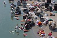 Indien, Agra (Uttar Pradesh), Waescher am Yamuna-Fluss