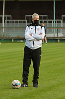 Aalst's head coach Dirk Decoen pictured during a female soccer game between Eendracht Aalst and SV Zulte Waregem on the seventh matchday of the 2020 - 2021 season of Belgian Scooore Womens Super League , Saturday 14 th of November 2020  in Aalst , Belgium . PHOTO SPORTPIX.BE | SPP | DIRK VUYLSTEKE