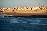 Afrique/Afrique du Nord/Maroc/Rabat: l'Oued Bou Regreg et la ville de Salé