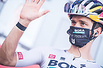 Bora-Hansgrohe at sign on before the start of Stage 11 of La Vuelta d'Espana 2021, running 133.6km from Antequera to Valdepeñas de Jaén, Spain. 25th August 2021.     <br /> Picture: Unipublic/Charly Lopez | Cyclefile<br /> <br /> All photos usage must carry mandatory copyright credit (© Cyclefile | Charly Lopez/Unipublic)