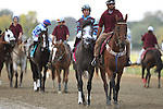 September 19, 2015.  PA Derby post parade: Battle Midway, Aaron Gryder up, right, and Upstart, left, Irad Ortiz Jr. up. Frosted, Joel Rosario up, wins the $1,000,000 Grade II Pennsylvania Derby, one and 1/8th miles for three-year-olds, at  Parx Racing in Bensalem, PA. Trainer is Kiaran McLaughlin, owner is Godolphin Racing. (Joan Fairman Kanes/ESW/CSM)