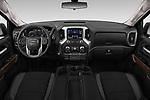 Stock photo of straight dashboard view of 2019 GMC Sierra-1500 Elevation 4 Door Pickup Dashboard