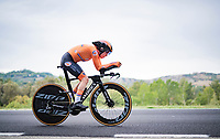 eventual (new) World Champion Anna van der Breggen (NED/Boels-Dolmans)<br /> <br /> Women Elite Time trial from Imola to Imola (31.7km)<br /> <br /> 87th UCI Road World Championships 2020 - ITT (WC)<br /> <br /> ©kramon