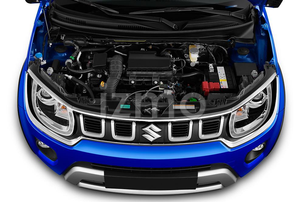 Car Stock 2020 Suzuki Ignis GL+ 5 Door Hatchback Engine  high angle detail view
