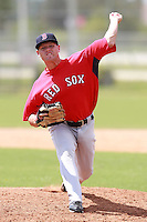 Boston Red Sox minor league pitcher Michael Hacker (51) during a game vs. the Minnesota Twins in an Instructional League game at Lee County Sports Complex in Fort Myers, Florida;  October 2, 2010.  Photo By Mike Janes/Four Seam Images