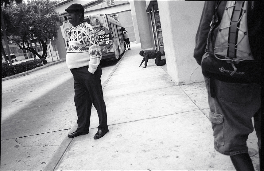 """Flagler Street<br /> From """"Walking Downtown"""" series<br /> Miami, 2010"""
