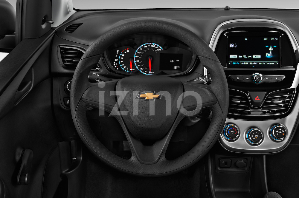 Car pictures of steering wheel view of a 2016 Chevrolet Spark LS Manual 1SA 5 Door Hatchback Steering Wheel