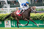 LOUISVILLE, KY- MAY 07: #1 Tepin with jockey Julien Leparoux up wins the Churchill Distaff Turf Mile Stakes at Churchill Downs in Louisville, Kentucky for trainer Mark E. Casse and owner Robert E. Masterson. (Photo by Samantha Bussanch/Eclipse Sportswire/Getty Images)