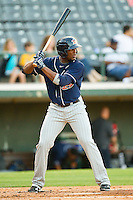 Audy Ciriaco #16 of the Toledo Mud Hens at bat against the Charlotte Knights at Knights Stadium on May 7, 2012 in Fort Mill, South Carolina.  (Brian Westerholt/Four Seam Images)