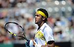 Jo Wilfried Tsonga (FRA) wins at Australian Open in Melbourne Australia on 15thJanuary 2013
