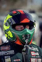 Jan. 2000; Chandler, AZ, USA; NHRA top fuel dragster driver Cory McClenathan during pre season testing at Firebird International Raceway. Mandatory Credit: Mark J. Rebilas-