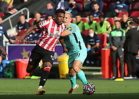 Frank Onyeka of Brentford in action during Brentford vs Brighton & Hove Albion, Premier League Football at the Brentford Community Stadium on 11th September 2021