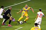 Luis Rodriguez of Tigres UANL (MEX) in action against CD Olimpia (HON) during their CONCACAF Champions League Semi Finals match at the Orlando's Exploria Stadium on 19 December 2020, in Florida, USA. Photo by Victor Fraile / Power Sport Images