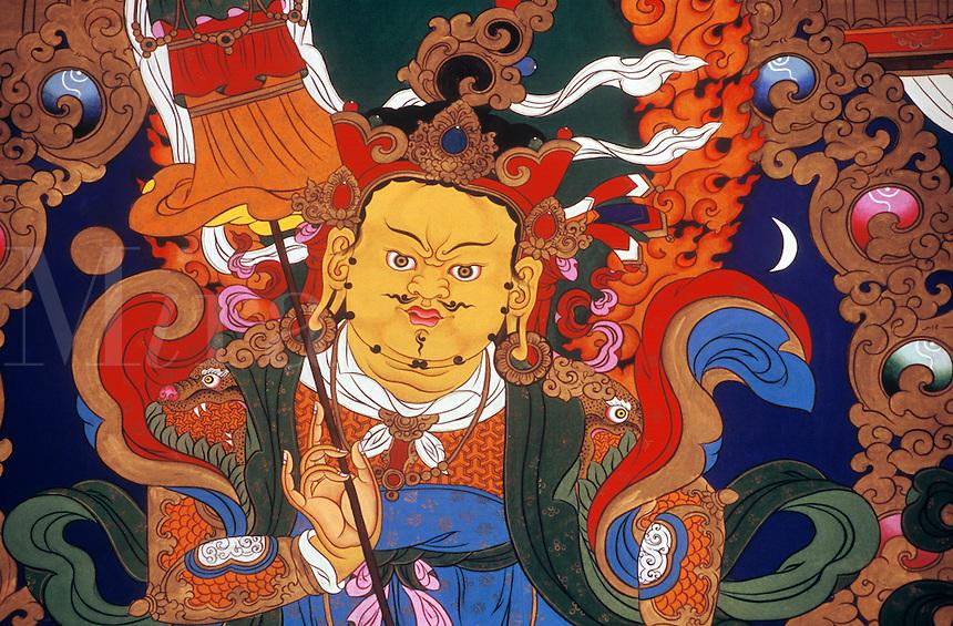 Kubera (Jambala) the god of prosperity, Tagong (Lhagang) Monastery - Kham (E. Tibet), Sichuan Province, China