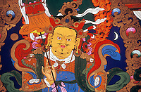 Kubera (Jambala) the god of prosperity, Tagong (Lhagang) Monastery - Kham (E. Tibet), Sichuan Province, China