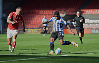 Sheffield Wednesday's Kadeem Harris whips the ball into the box while under pressure from Bristol City's Jack Hunt<br /> <br /> Photographer Ian Cook/CameraSport<br /> <br /> The EFL Sky Bet Championship - Bristol City v Sheffield Wednesday - Sunday 27th September, 2020 - Ashton Gate - Bristol<br /> <br /> World Copyright © 2020 CameraSport. All rights reserved. 43 Linden Ave. Countesthorpe. Leicester. England. LE8 5PG - Tel: +44 (0) 116 277 4147 - admin@camerasport.com - www.camerasport.com