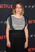 """Carly Paradis<br /> arriving for the premiere of """"The Innocents"""" at the Curzon Mayfair, London<br /> <br /> ©Ash Knotek  D3421  20/08/2018"""