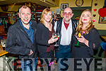 L to r: Mike Foley, Caroline Clapham, Sean Sugrue and Sinead Sommers enjoying the Braces and Garters' Fun Night in Bettys Bar on Friday night.