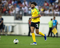 NASHVILLE, TN - JULY 3: Michael Hector #3 during a game between Jamaica and USMNT at Nissan Stadium on July 3, 2019 in Nashville, Tennessee.