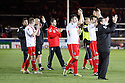 Stevenage manager Graham Westley and his team applaud the fans after victory<br />  - Peterborough United v Stevenage - Sky Bet League One - London Road, Peterborough - 23rd November 2013. <br /> © Kevin Coleman 2013