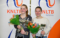 March 8, 2015, Netherlands, Rotterdam, TC Victoria, NOJK, Winner girls 16 years Suzan Lamens and runner up Donaroza Gouvernante (R)<br /> Photo: Tennisimages/Henk Koster