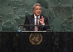 72 General Debate – 20 September <br /> <br /> by His Excellency Lenin Moreno Garcés, Constitutional President of the Republic of Ecuador