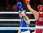 Wales Lauren Price v Caitlin Parker in the Woman's 75kg Final Bout<br /> <br /> *This image must be credited to Ian Cook Sportingwales and can only be used in conjunction with this event only*<br /> <br /> 21st Commonwealth Games - Boxing - Day 10 - 14\04\2018 - Oxenford Studios  - Gold Coast City - Australia