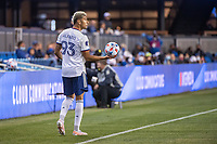 SAN JOSE, CA - MAY 01: Tony Alfaro #93 of DC United prepares for a throw in during a game between San Jose Earthquakes and D.C. United at PayPal Park on May 01, 2021 in San Jose, California.