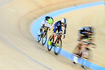 Cyclists compete during the Track Cycling Race 2016-17 Series 3 at the Hong Kong Velodrome on February 4, 2017 in Hong Kong, China. Photo by Marcio Rodrigo Machado / Power Sport Images