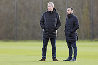 Club Chairman Trevor Birch with Leon Britton football advisor to the board of directors watch players train during the Swansea City Training Session at The Fairwood Training Ground, Swansea, Wales, UK. Wednesday 15 January 2020