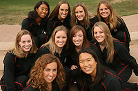 2 October 2006: (Not in order) Erin Bell, Samantha Bongiovanni-Duclos, Debbie Chen, Taylor Durand, Hilary Homenko, Melissa Knight, Sara Lowe, Katherine Norris and Courtenay Stewart and Gayle Lee during Picture Day at the Avery Aquatic Center in Stanford, CA.