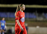 Magali Dinon (6) of Woluwe pictured during a female soccer game between FC Femina White Star Woluwe and AA Gent Ladies on the 13 th matchday of the 2020 - 2021 season of Belgian Scooore Womens Super League , friday 5 th of February 2021  in Woluwe , Belgium . PHOTO SPORTPIX.BE | SPP | SEVIL OKTEM