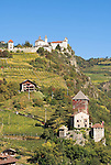 Italy, South Tyrol, Alto Adige, Chiusa at Valle Isarco, castle Branzoll, monatery Saeben