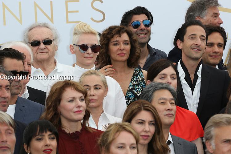 COLIN FARREL EMMANUELLE BEART FATIH HAKIN ADRIEN BRODY VALERIA GOLINO AREN ADE SOFIA COPPOLA GAEL GARCIA BERNAL SALMA HAYEK TILDA SWINTON 70th Anniversary Photocall - The 70th Annual Cannes Film Festival<br /> CANNES, FRANCE - MAY 23