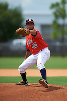 GCL Astros pitcher Enrique Chavez (47) delivers a pitch during a game against the GCL Braves on July 23, 2015 at the Osceola County Stadium Complex in Kissimmee, Florida.  GCL Braves defeated GCL Astros 4-2.  (Mike Janes/Four Seam Images)