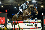 Philipp Weishaupt of Germany riding Chacon competes in the Hong Kong Jockey Club Trophy during the Longines Masters of Hong Kong at the Asia World Expo on 09 February 2018, in Hong Kong, Hong Kong. Photo by Ian Walton / Power Sport Images
