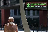 28.04.2020 - Coronavírus movimento av Paulista em SP
