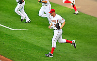 8 June 2010: Washington Nationals' rookie pitcher Stephen Strasburg takes to the field prior to his Major League debut against the Pittsburgh Pirates at Nationals Park in Washington, DC. The Nationals defeated the Pirates 5-2 in the series opener where Strasburg pitched 7 complete innings, struck out 14 batters, notching his first win in the majors. Mandatory Credit: Ed Wolfstein Photo
