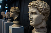 A series of sculptures with various provenances bears witness to two phenomena very wide-spread in Ancient Rome: the habit of collecting antiques and the diffusion of Greek models through copies of the original sculpture. Hall of the Machines. Rome, Italy. Mar. 07, 2015