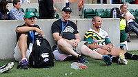 (L-R) Andrew Kearney, Kevin Thomas and player manager Bruce Thomas of San Francisco Golden Gate during the World Club 7s at Twickenham on Sunday 18th August 2013 (Photo by Rob Munro)