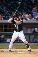 Matt Davidson (22) of the Charlotte Knights at bat against the Toledo Mud Hens at BB&T BallPark on April 27, 2015 in Charlotte, North Carolina.  The Knights defeated the Mud Hens 7-6 in 10 innings.   (Brian Westerholt/Four Seam Images)
