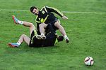 Spanish National Team's  training at Ciudad del Futbol stadium in Las Rozas, Madrid, Spain. In the pic Raul Albiol. March 25, 2015. (ALTERPHOTOS/Luis Fernandez)