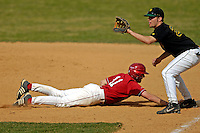 21 April 2007: University of Hartford Hawks' Brady Stouffer, a Sophomore from Gaithersburg, MD, in action during a double-header against the University of Vermont Catamounts at Historic Centennial Field, in Burlington, Vermont...Mandatory Photo Credit: Ed Wolfstein Photo
