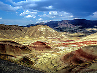 Painted Desert seen from the hillside, Central Oregon.