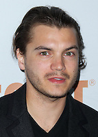 SANTA MONICA, CA, USA - JUNE 11: Emile Hirsch at the Pathway To The Cures For Breast Cancer: A Fundraiser Benefiting Susan G. Komen held at the Barker Hangar on June 11, 2014 in Santa Monica, California, United States. (Photo by Xavier Collin/Celebrity Monitor)