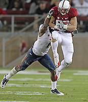 STANFORD, CA - November 6, 2010: Konrad Reuland on a reception during a 42-17 Stanford win over the University of Arizona, in Stanford, California.